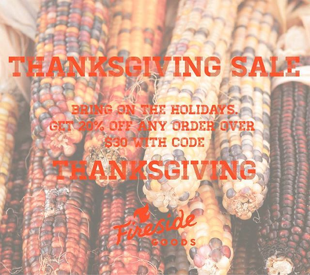Holy smokes! The holidays are here. Support small business and get 20% off any order over $30 on our website at www.firesidegoods.com  #shoplocal #shopsmall #handmadegoods