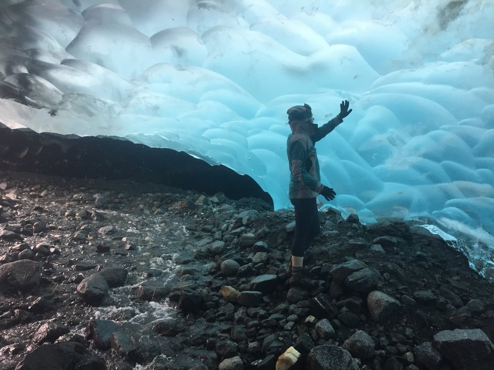 This is what the inside of a glacier looks like