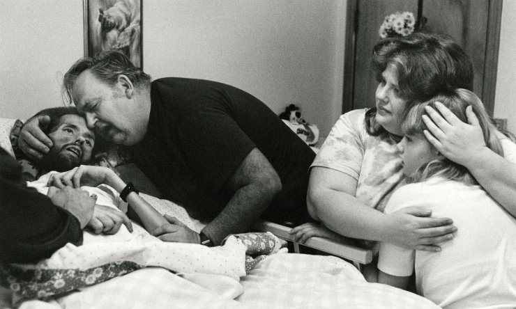 David Kirby, AIDS victim, 1990;  photo: Therese Frare