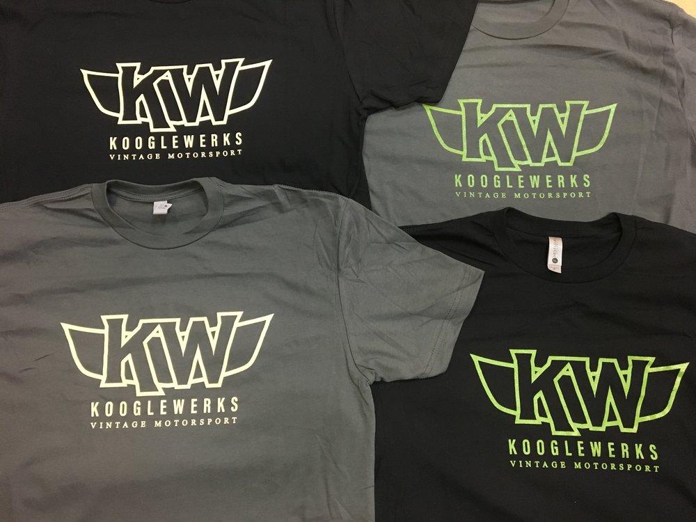 KoogleWerks logo T-shirts now back in stock ! -