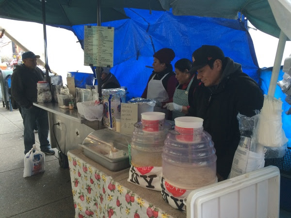 East Harlem street vendors selling handmade Mexican food at 117th Street and Third Avenue