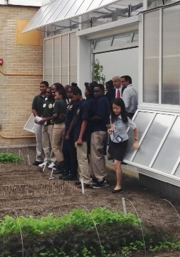 The young gardeners in the Edible Schoolyard