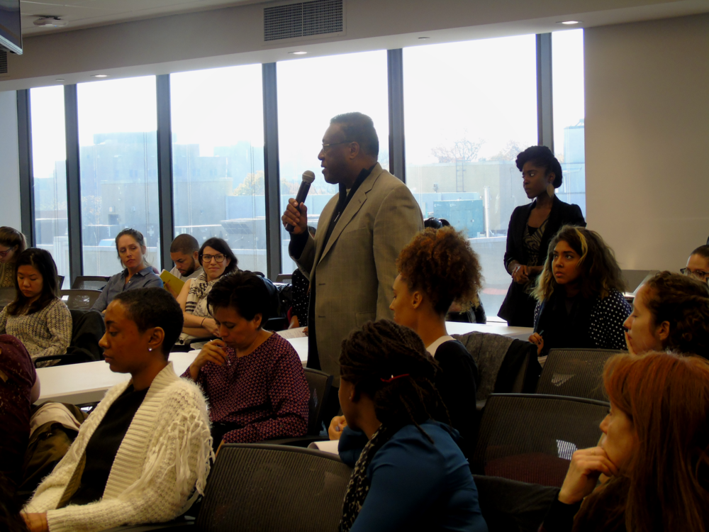 Audience members included front line workers, city and state agency representatives, student and faculty researchers, and other stakeholders.
