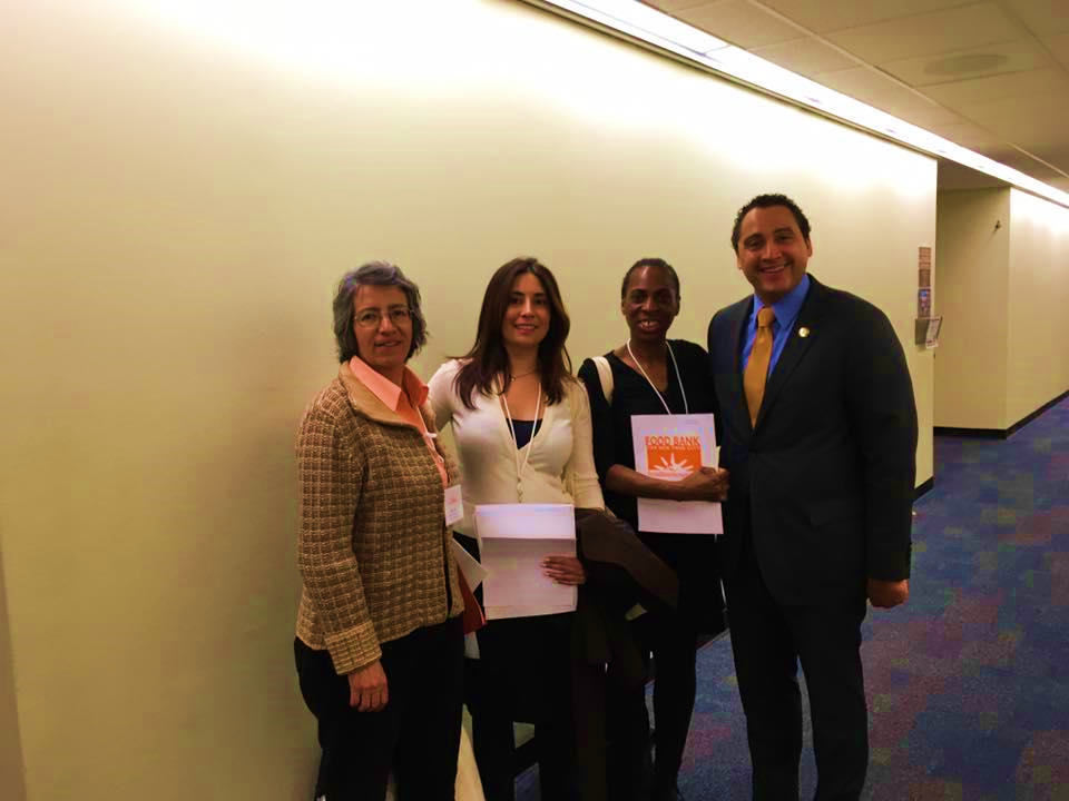 Anti-hunger Advocates and Assembly Member Robert Rodriguez from District 68. Photo credit: Food Bank of New York City.