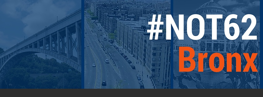 #not62 seeks to address the social and economic conditions that impact the overall quality of life and help create an environment where Bronx residents can attain their highest level of health.