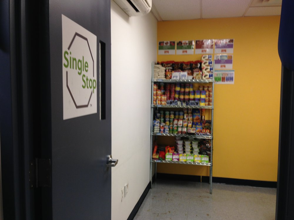 A food pantry located at Guttman Community College, CUNY.