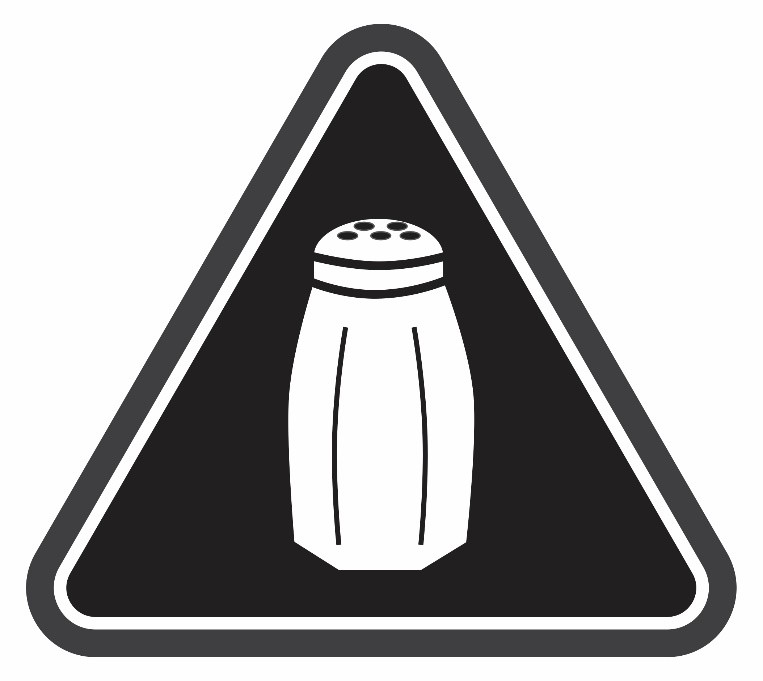 The NYC Department of Health and Mental Hygiene's sodium warning label.
