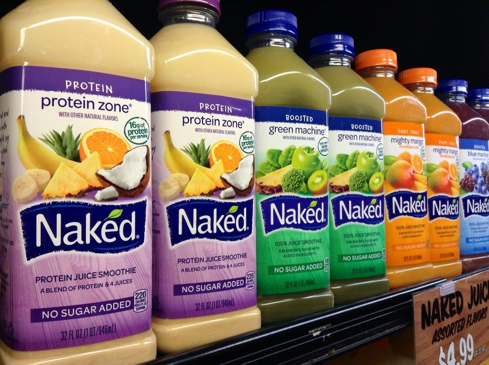 Center for Science in the Public Interest sued Naked Juice for false and misleading marketing and labeling of their beverages.  Photo credit