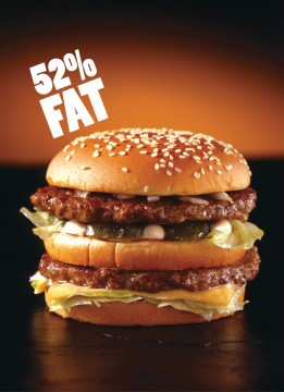 Image targeting McDonald's Big Mac. Retrieved from adbusters.com.