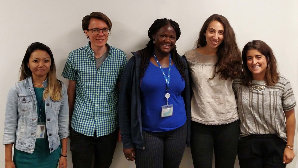 The Institute's Summer 2018 Fellowship Participants (left to right):    Kathy Liu, Beckett Flynn, Kian Williams, Ayelet Bahary, and Shelby Mosier