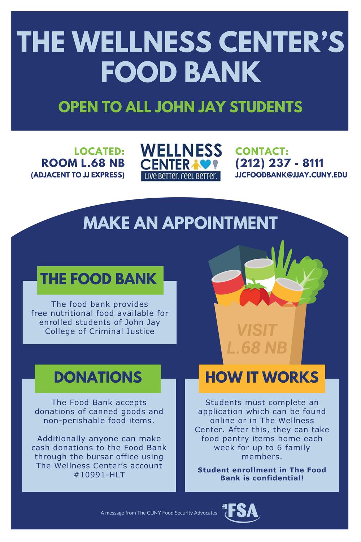 2018 John Jay College Food Bank Flyer