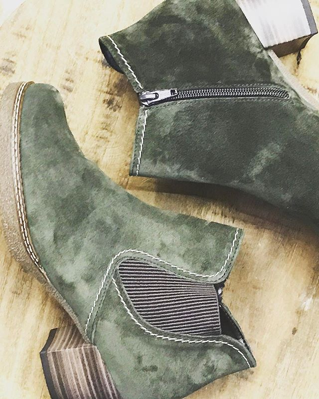 Olive suede is the best  #boots #suede #olivesuede #ankleboots #shopsmall #shoplocal #newarrivals