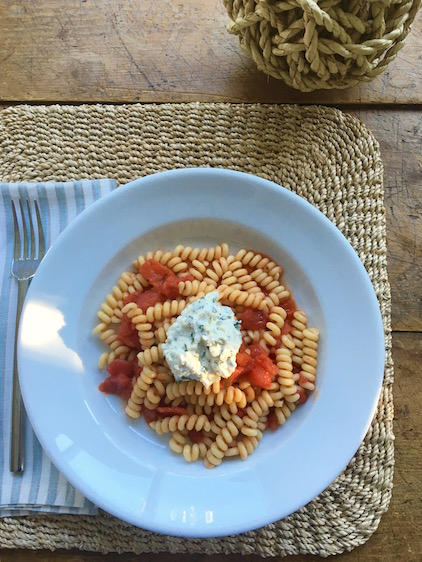 FUSILLI WITH TOMATOES & HERBED RICOTTA