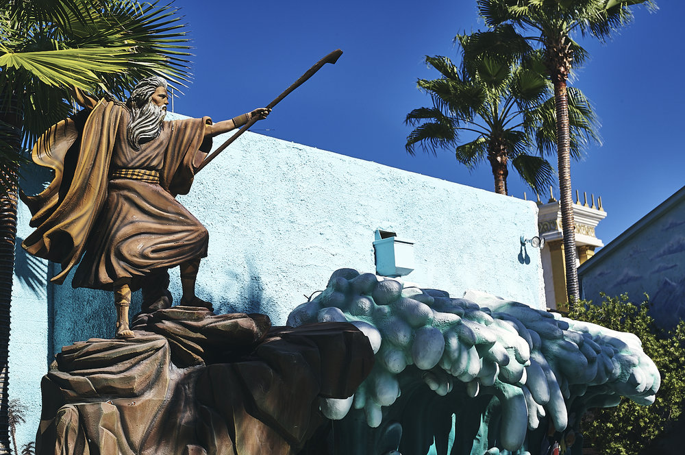 Moses diving the Red Sea at the Holy Land Experience, Orlando, Florida