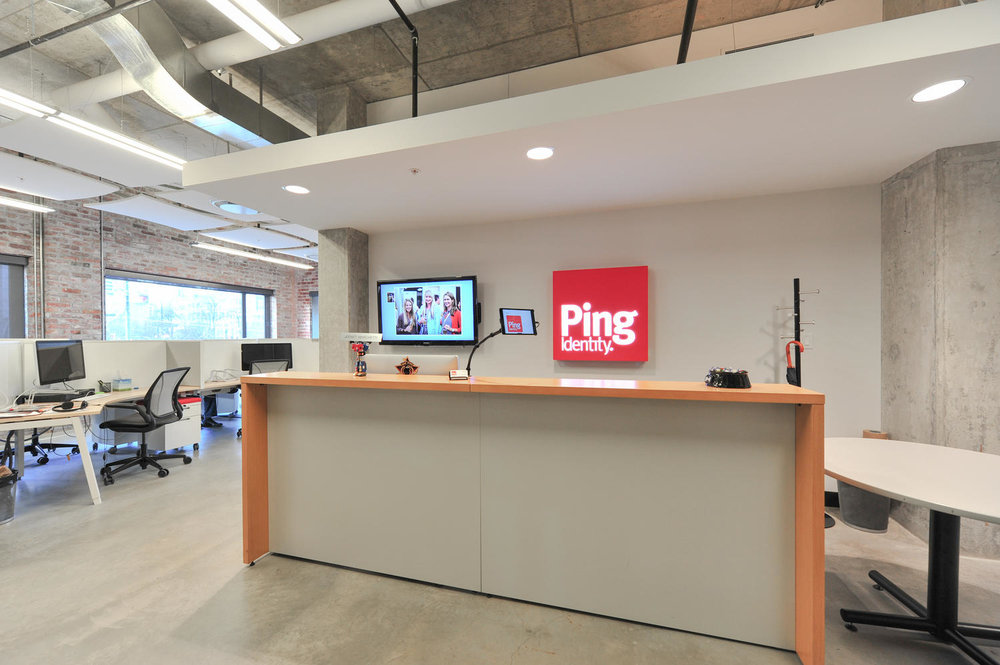 Ping Identity    Size:  10,550 Sq. Ft.  Completed:  2014  Services Rendered:  Interior Design, Construction Management