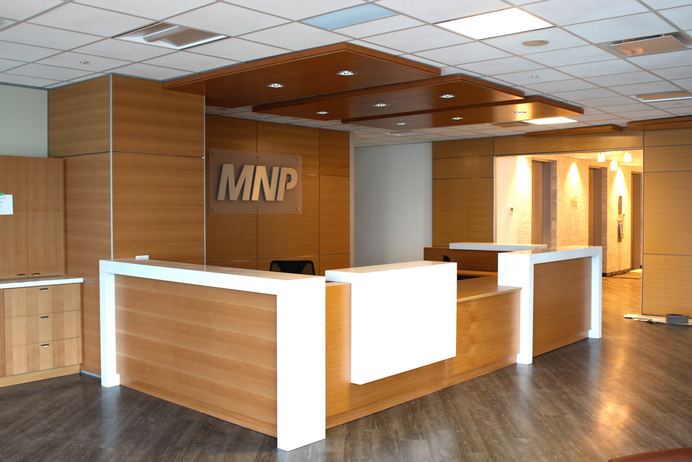 MNP LLP Size: 92,000+ Sq. Ft. Completed: 2006 & 2015 Services Rendered: Interior Design, Construction Management