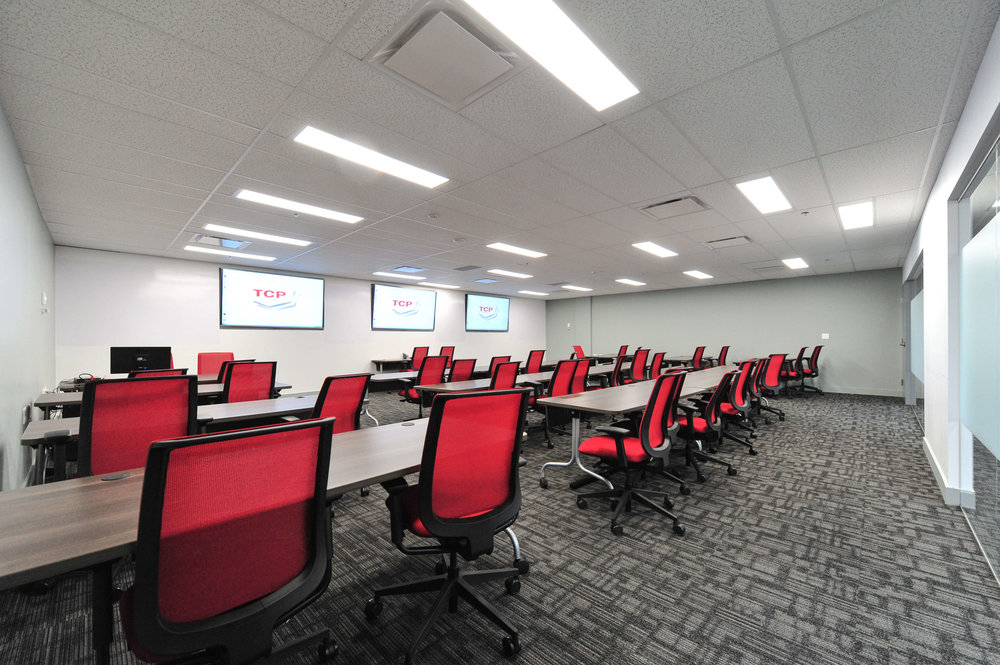TCP Training Centers Size: 8,640 Sq. Ft. Completed: 2014 Services Rendered: Interior Design, Construction Management