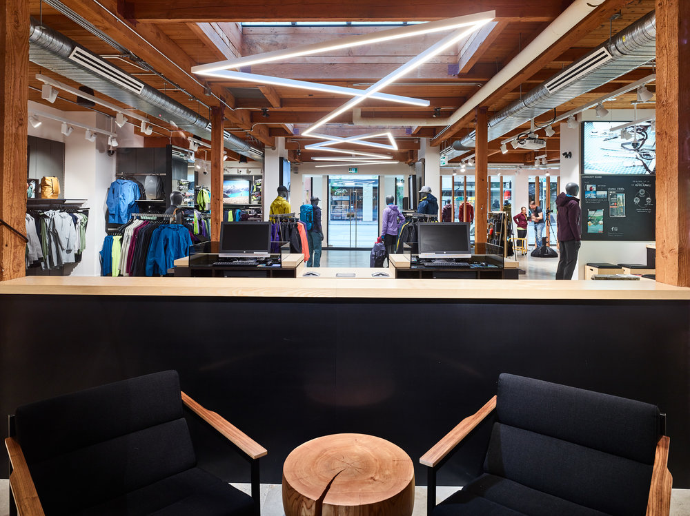Arc'teryx    Size:  3,755 Sq. Ft.  Completed:  2017  Services Rendered:  Interior Design, Construction Management