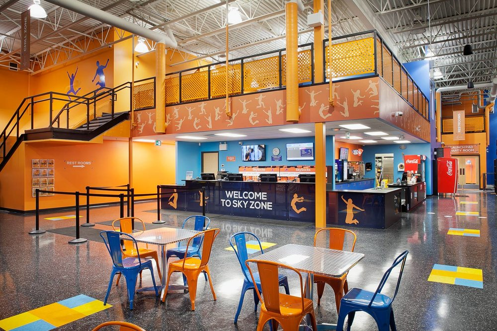 Skyzone    Size:  26,550 Sq. Ft.  Completed:  2016  Services Rendered:  Interior Design, Construction Management