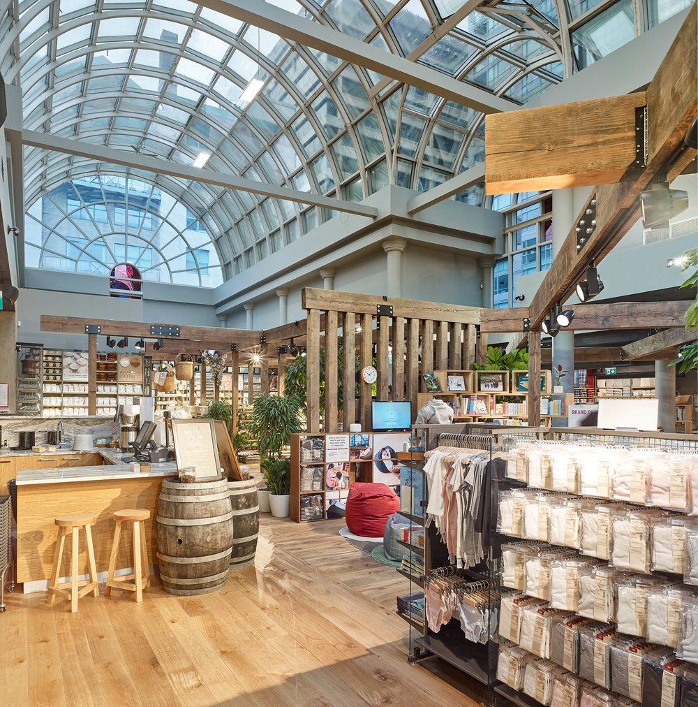 MUJI Canada    Size:  14,500 Sq. Ft.  Completed:  2017  Services Rendered:  Interior Design, Construction Management, Project Management