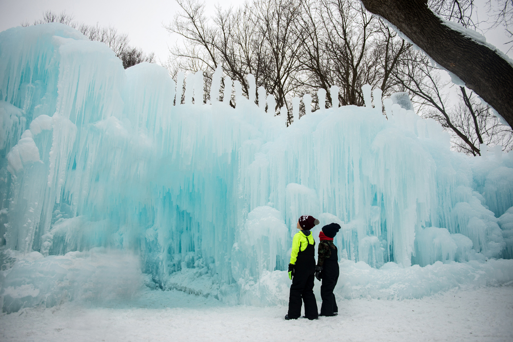 Ice castles are a real thing in Minnesota.