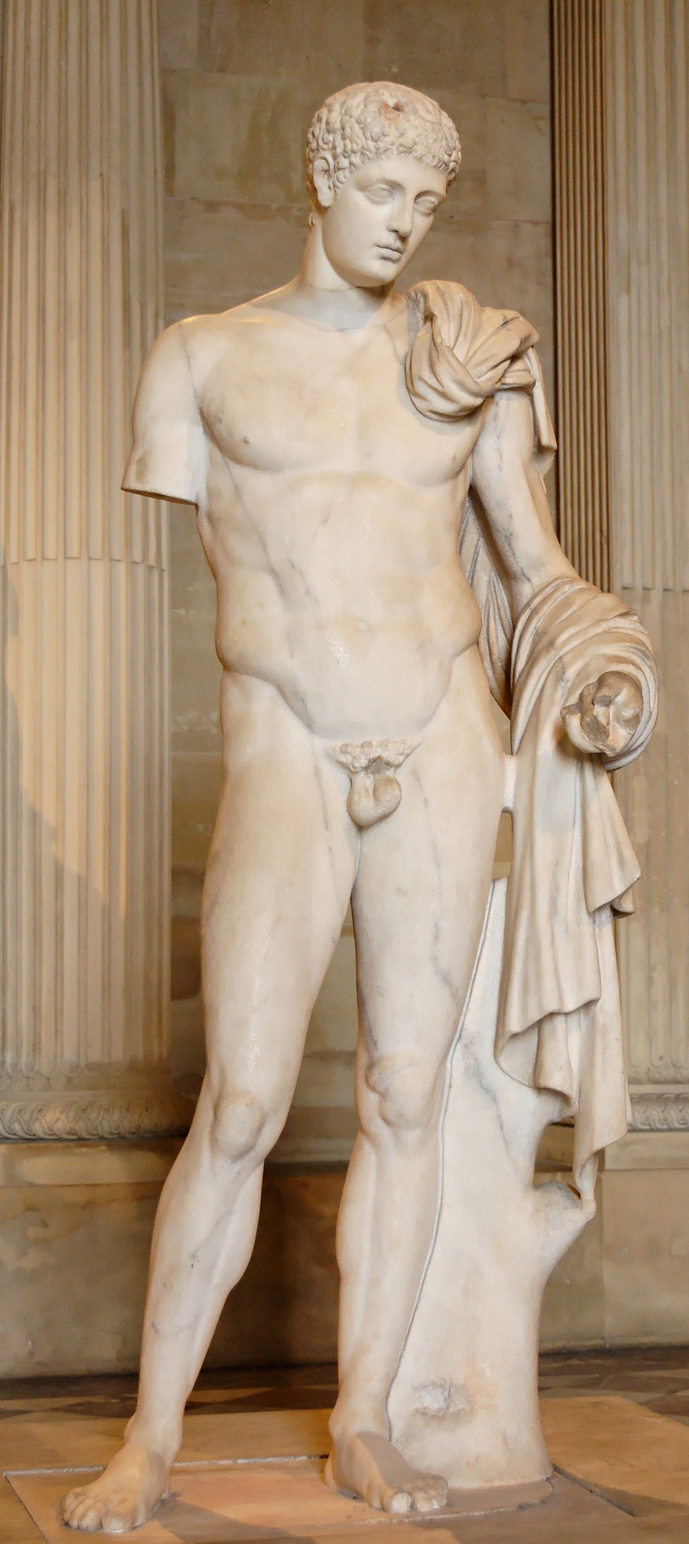 Hermes statue in the Louvre Museum