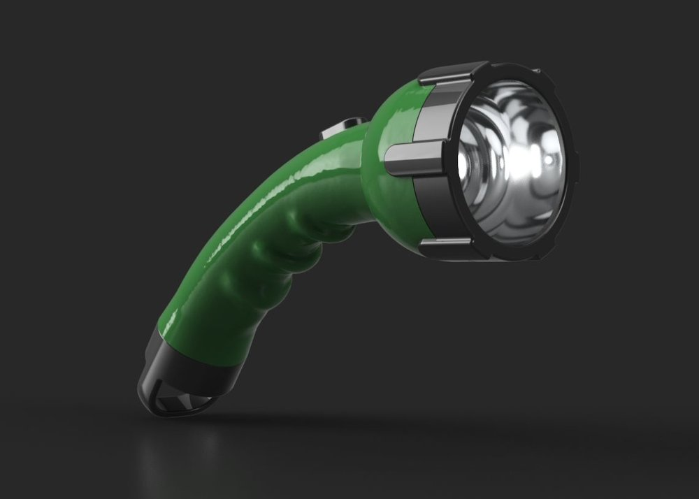 The flashlight is an example of Alex's physical and digital prototyping using ReMake and Fusion