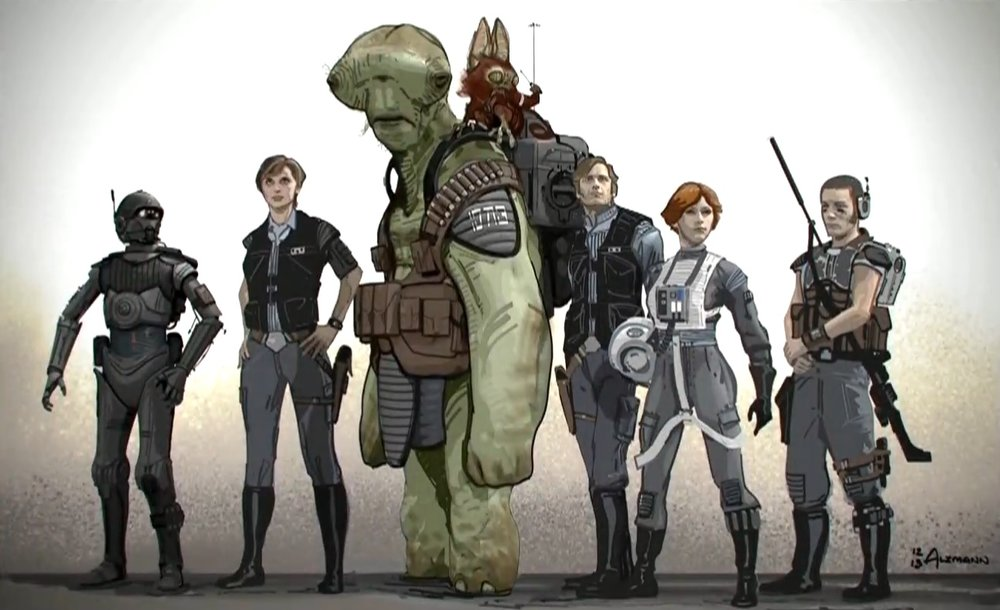 "pre-production art for ""Rogue One"""