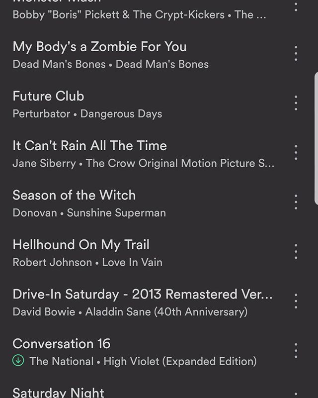 It's time for another Hey Kids, Comics! #Playlist.  This week we are recording our annual spooktacular (when is going to drop after Halloween..don't ask). Check your feeds on Friday, and hit jedicole.com for updates  #music #playlist #comics #comicbook #comicbooks #horrorcomics #horrorcomic #podcast #podcaster #podcasters #podernfamily #horrormusic