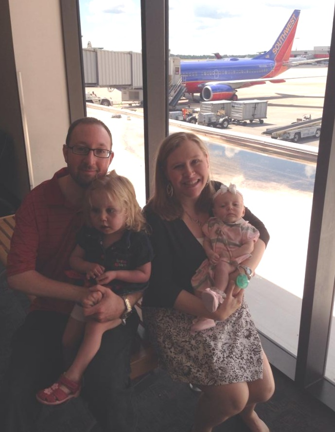 Kirkley Family heading to Boston to see specialists for Abby, bringing along their second daughter, Caroline when she was just a few months old.