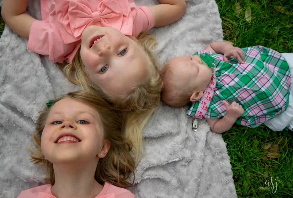 2018 photo of this amazing Heart Warrior, Abby, and her two younger sisters, Caroline and Lilly (left to right).