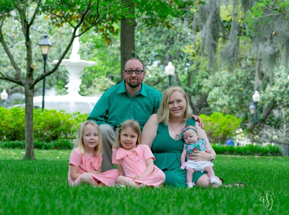 Kirkley family 2018, Caroline, Abby, Mark, Natalie and Lilly (left to right)
