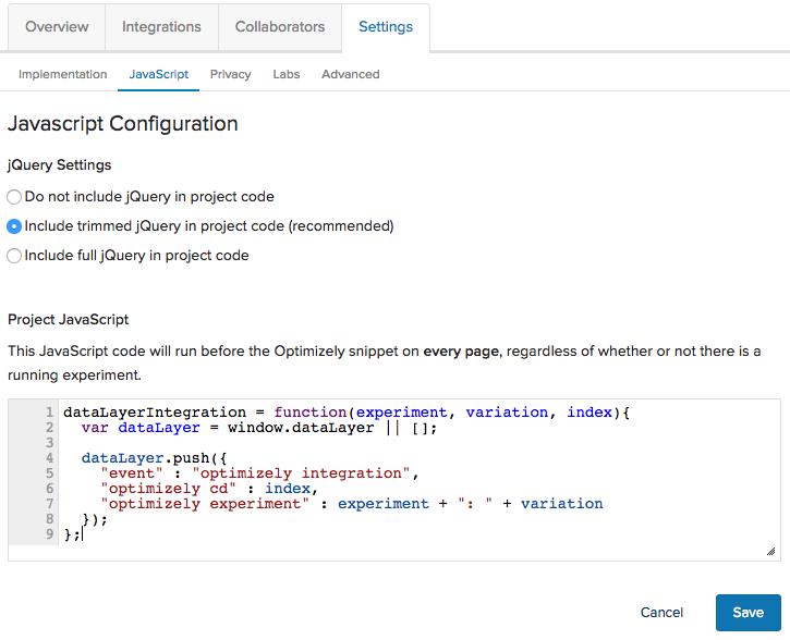 javascript code gtm