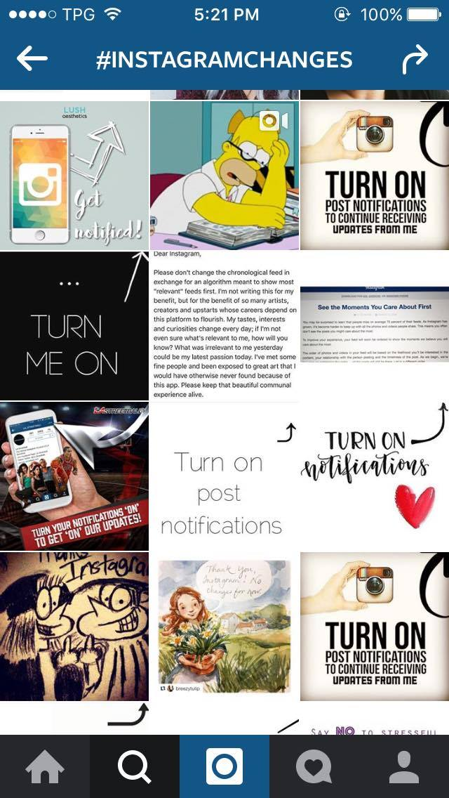 Instagram Updates Freakout