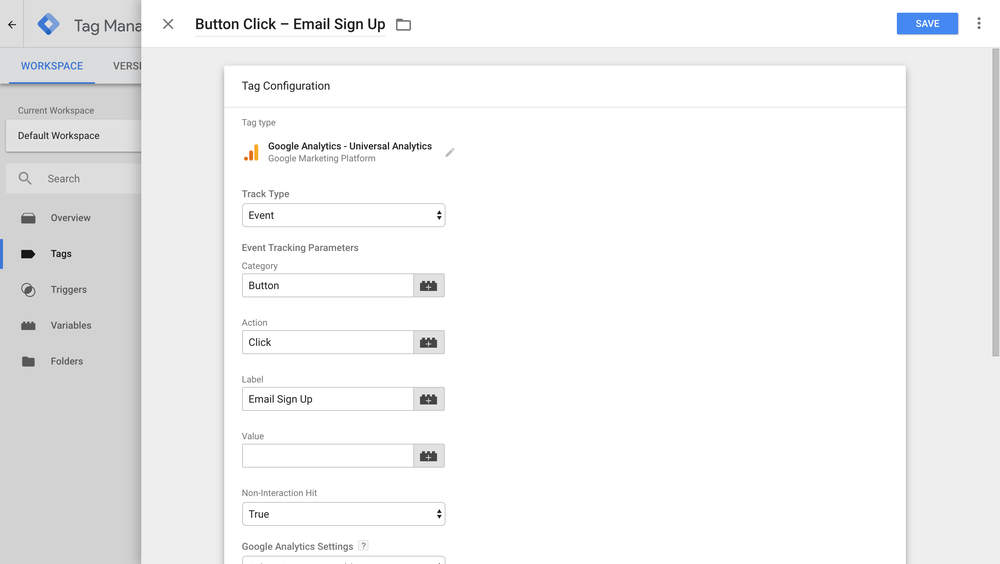 Google Tag Manager Button Click Tracking