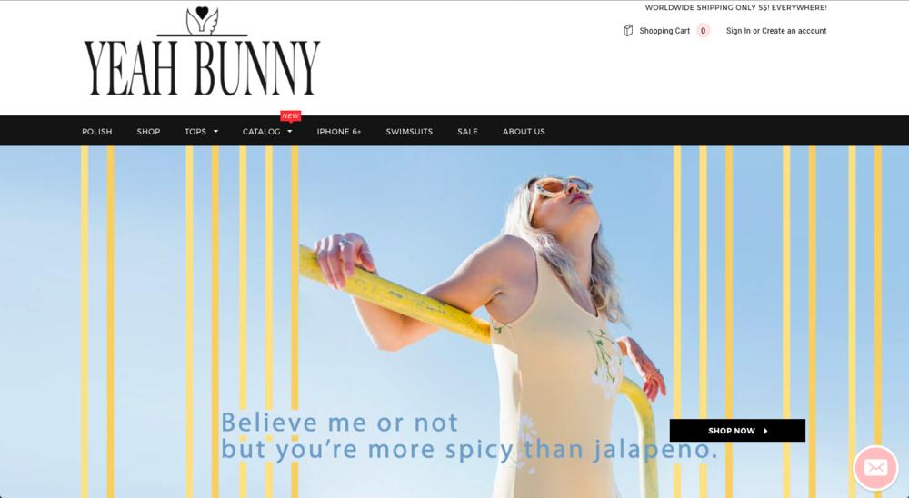 Yeah Bunny Website