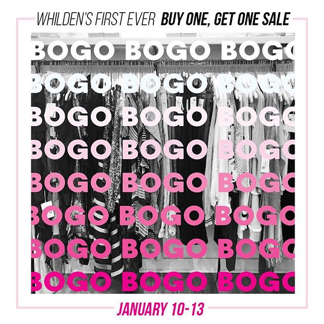 BOGO Sale on the Sale Rack Starts tomorrow!  You don't want to miss it! 🛍🛍