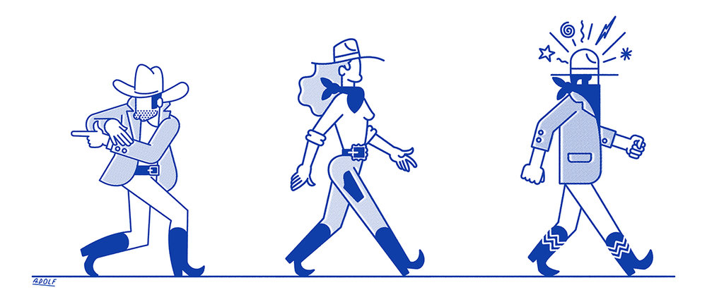 adolf rodriguez, adolfrodriguez, famousadolf, illustration, animation, barcelona, portfolio, cowboy, cowgirl, western, comics, character design, characterdesign