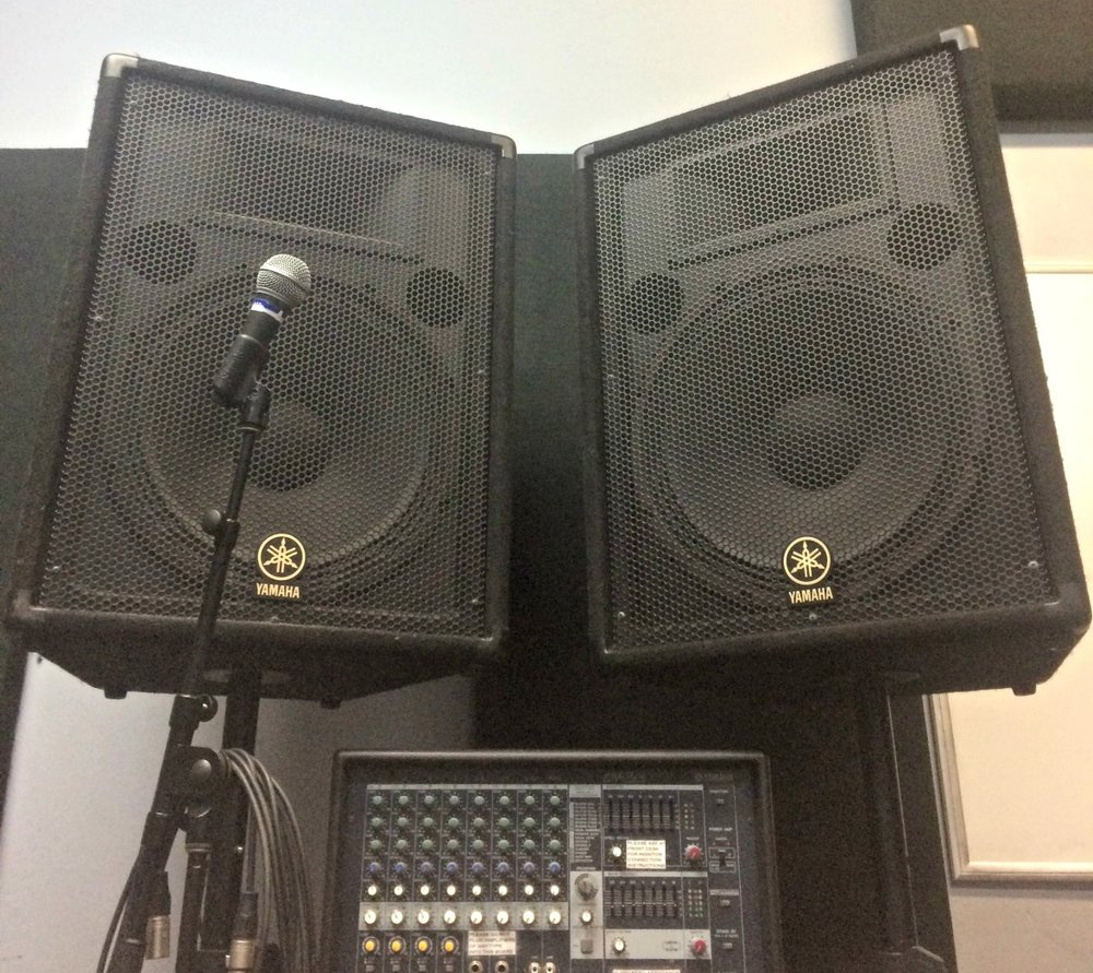 PA System  (8 channel PA, 2 - 1X15 speakers w/stands & 1 mic set)  $60/day  Deposit: $800