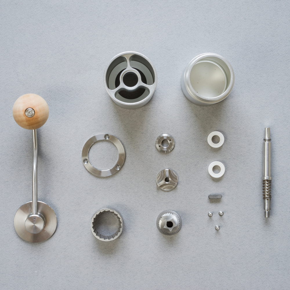 Helor 101 Hand Grinder All Parts Disassembled.