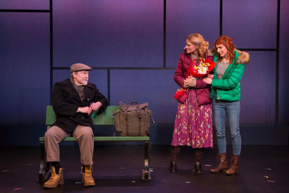 """Robert Zukerman, Sara Goeke and Keri Safran in Scott Mullen's """"172 PUSH-UPS."""""""