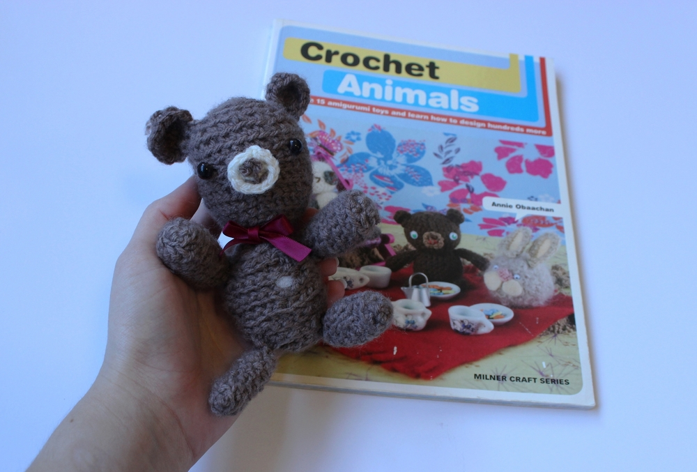 My first crochet book and first amigurumi.