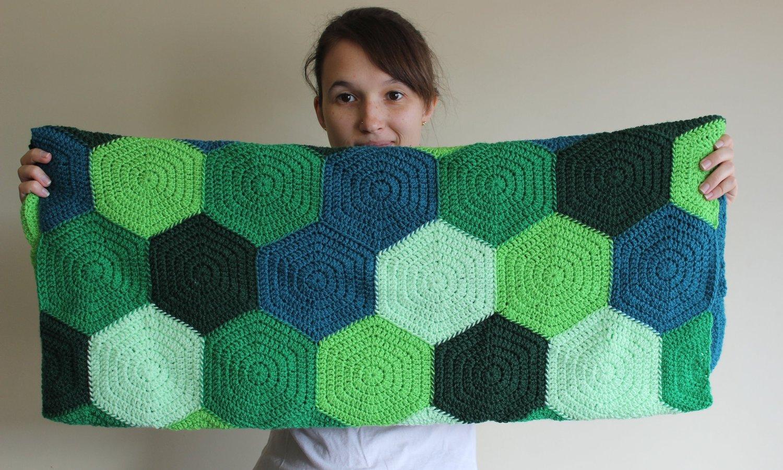 Solid Hexagon Pattern Earl Grey Crochet