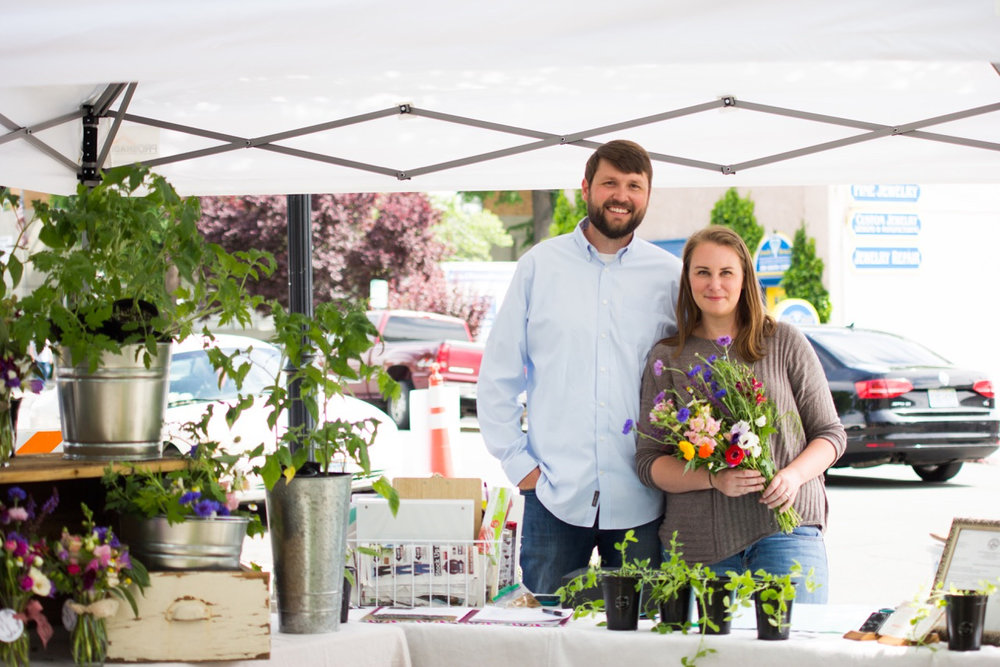 Graham and I at the opening day of the 3rd & Curry St. Farmer's Market. If you haven't been to this gem of a market be sure to put that on your summer bucket list! We'll be there with fresh blooms (and some lovely bowls) throughout the summer.