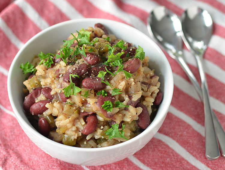 Slow Cooker Red Beans and Rice via Delish Knowledge