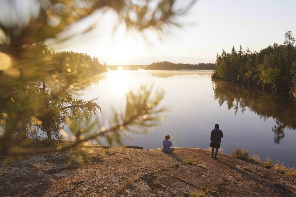 Sunrise in Nopiming Provincial Park. Photo by Adam Kelly.