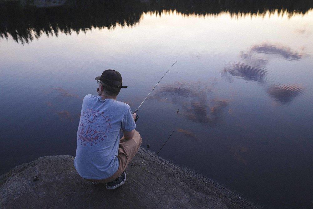 Joseph Visser Fishing at Dusk in Nopiming.