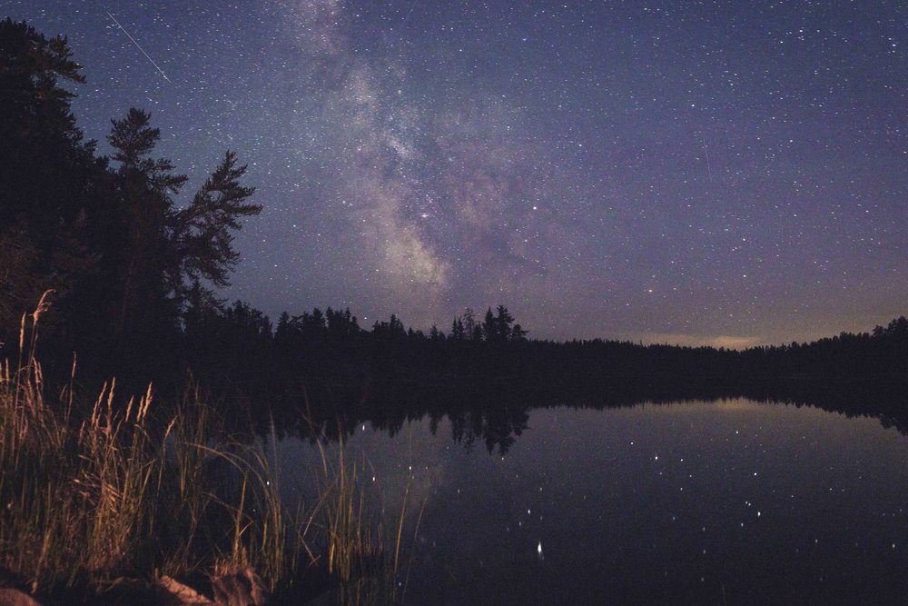 Meteor shower and milky way in Nopiming. Photo by Adam Kelly.