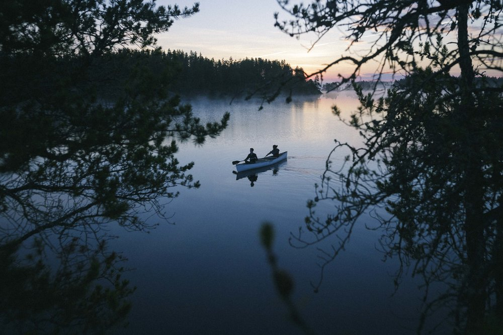 Pre Dawn Paddle in Nopiming Provincial Park. A wonderful places to canoe.