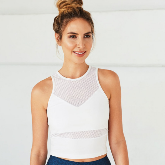 Manduka Mesh Crop Top
